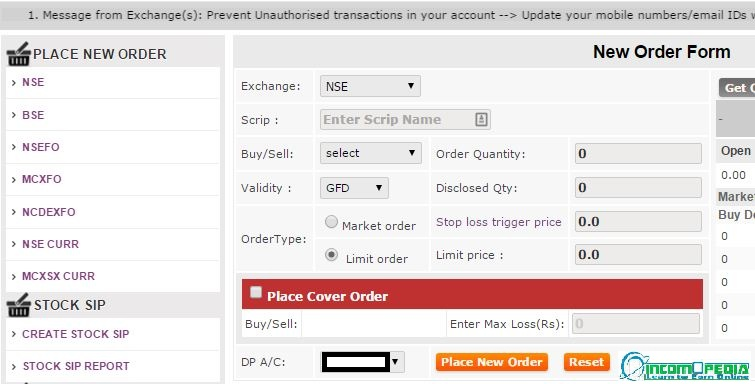 sharekhan trade now order form